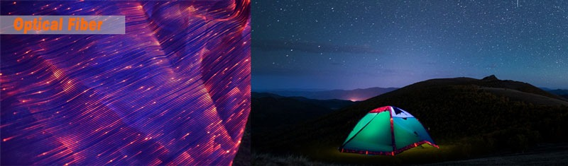 Optical-fiber-tents